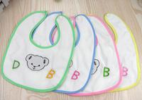 100pcs/lot Baby Boy Girl Bibs animal cartoon toweling Waterproof slobber towel Baby Bib baby waterproof bib
