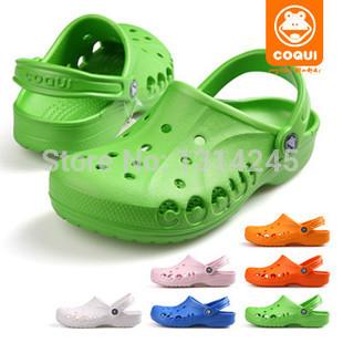 Coqui 29.8 chinelos de praia sapatos buraco mulas masculinos criança meninas sapatos(China (Mainland))