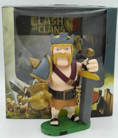 Hiqh Quality Clash of Clans Game Barbarian King Toy Figure Doll Christmas Gift New in Box Christmas gift Chinese ver.