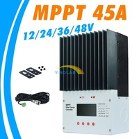 MPPT 45A Solar Charge Controller LCD 48V Solar Panel Charger Controller Regulator RS232 PC Communication MT4848 2014 New
