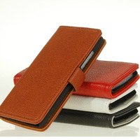 PU Leather Wallet Stand Card Flip Open Case Cover Protector For HTC Desire 600