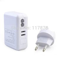 Four Port USB Universal EU Travel AC Power Adapter White