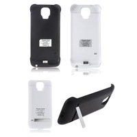 3200mAh Power Bank Backup Battery Charger Case Cover with Stand Power Supply for Samsung Galaxy S5 Black White