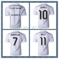 James Rodriguez 2015 Pink Black Bale Cristiano Ronaldo KROOS Real Madrid Soccer Jerseys 14 15 Football Shirts