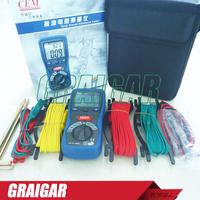 CEM DT-5300B Digital Earth Ground Resistance Meter Tester & DC AC Voltage Measure Instruments