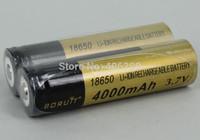 2PC Battery  BORUIT 3.7V 18650 4000mAh Unprotected Rechargeable Battery
