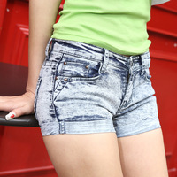 free shipping Summer Shorts Ladies Denim Jeans refreshing casual wear white pants thin section boutique wholesale