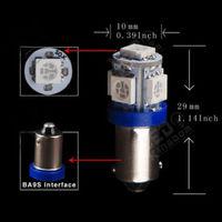 2PCS T11 12V BA9S T4W H6W 363 White/Green/Red/Blue/Yellow/Pink 5 LED 5050 SMD Car Wedge Side Light Lamp Bulb