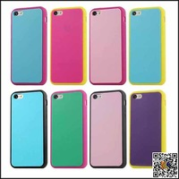 New Hot Sale Superb! Fashion Bicolor Silicone Soft Cases For Iphone 5C