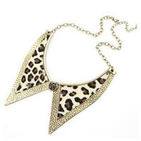 2014 New Leopard false collar women Necklace Chain Gold Jewelry Wholesale Fashion punk style alloy petals tie Necklace for women