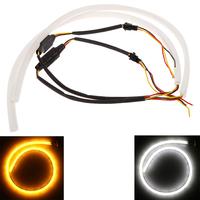 6W Auto External Lights 2*45cm LED Car Light Daytime Running Lamp Bulbs Strip Tube Style DRL Driving Light White Yellow 12V
