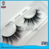 UPS Free Shipping 40pair/lot 100% Real Mink Fur False Eyelashes-Individual Mink Eyelashes Extensions Handmade AFM003