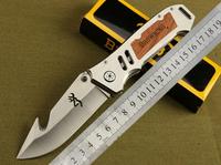 Browning Hunting Knife Survival Knives 5Cr13 Material Fodling Pocket Knife Hunter For Outdoor Equipment