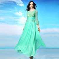 Handmade Evening Elegant Long Evening Dresses Vestido De Festa Formal Dresses Evening Gown Beaded Dress For Party Evening Dress