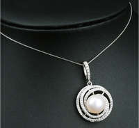 925 Sterling Silver Necklace for Women with Natural Pearl Pendant South Sea Pearl Pendant Necklace