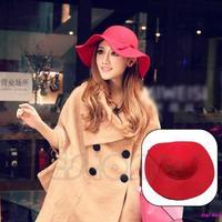 Vintage Women Lady Wide Brim 100% Wool Felt Bowler Fedora Hat Floppy Cloche Free Shipping