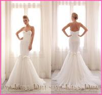 Vestido De Novia Sweetheart With Zipper Back Fitted Mermaid Ivory Long Wedding Dresses 2015