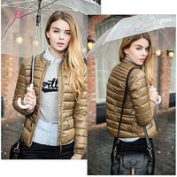 2014 New Top Fashion Winter Women 90% Down Jacket  Desgiaul Short-Length Light Warm Down Jacket Coat in Khaki/ Purple