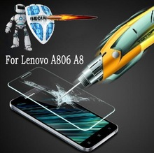 Explosion Proof Clear Front Premium Anti-Explosion Tempered Glass screen protector for lenovo A806 A808 A8.Free Shipping