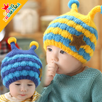 Baby hat autumn and winter child winter ear protector plus velvet cap knitted hat baby hat autumn and winter