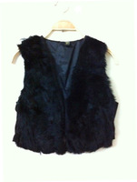 short design female fox fur vest leather vest outerwear plus size fur vest women coat WT9019