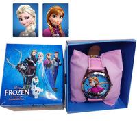 Free shipping New 2014 Frozen Lovely Cute Princess Anna&Elsa Cartoon Watch Children Watch Wrist Watch High Quality