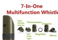 Wholesalers New 7in 1 exempt postage Outdoor life-saving whistle 7 one multifunctional outdoor survival whistle