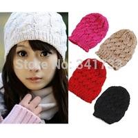 Stylish Chic beanie womens hats caps Winter Knitting Cap Warm Beanies Crochet Ski Hat,Chunky Baggy skullies,gorro feminino,CTL