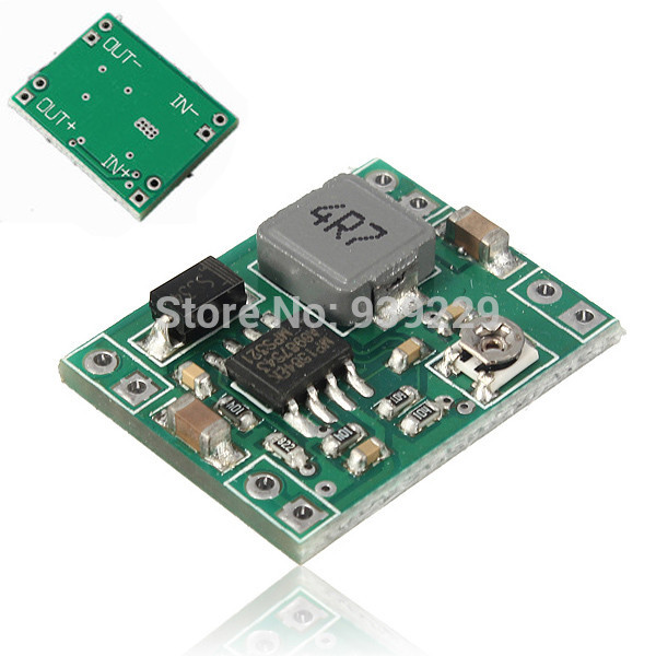2Pcs/lot Mini 3A DC-DC Buck Adjustable Step-down Converter Standard Power Supply Module Output 1.3-17V LM2596 Free Shipping(China (Mainland))