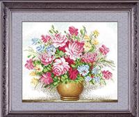 "Wall Home Decoration Cross StitchPrecision  Printing""Pink roses "" Cross-Stitch Kit , DIY Cross Stitch Sets,"