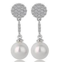 silver earrings for women drop pearl earrings silver drop earrings for women fashion jewelry for women drop shipping M547