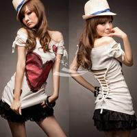 Girl Women Korea Sexy Love Off Shoulder Top T-shirt Hot