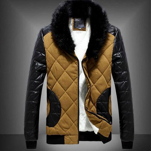 Winter 2015 Men&39s Clothing Fur Collar Hooded Down Jacketman Minus