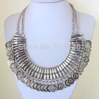 2014 Hotest Fashion Tassel Boho Coin Necklace Colar turco Fashion Turkish Necklace Boho Jewelry for Woman KK-SC757