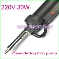 Solder Sucker-desoldering pump 220V 30W Electric Vacuum Solder Sucker Desoldering Gun Iron solder remover collector removal tool