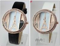 Wholesale!Eiffel Tower belt watches diamond watch,  unisex watches. Belt quartz watches ,free shipping