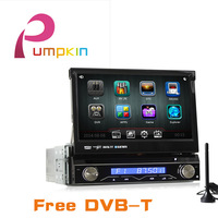 kd 7 inch 1 din car dvd player+gps navigation+3g+bluetooth+audio+stereo+radio+dvd automotivo+central multimedia+Mp3+Car Styling