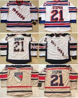 Wholesale Authentic New York Rangers #21 Derek Stepan Jersey Beige Cream White 2014 Stadium Series NY Rangers Ice Hockey Jerseys