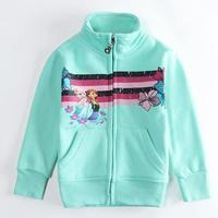 Wholesale Children Outwear Girls Jackets & Coat Frozen Elsa Anna Printed Baby Girls Kids Coat Zipper Coat Child Clothes Autumn