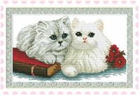 "Wall Home Decoration Cross StitchPrecision  Printing""Two cats "" Cross-Stitch Kit , DIY Cross Stitch Sets,"