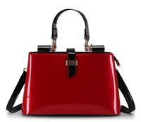 2015 New Women Bag Brand Designer Genuine Patent Leather Shoulder Bag Casual Women Handbag Messenger Bags OL Bag Bolsas B661
