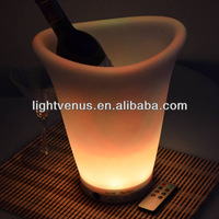 BSCI factory direct sale color changing LED Champagne Ice Bucket with remote control