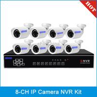 szsinocam SN-NVK-5018C 8 Chanel HD 720P P2P 1.0 Mega Pixel Cloud IP Camera NVR Kit
