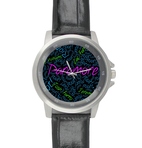 Black Leather Alloy High-grade Watches Paramore Sgin From American Wrist Watch(China (Mainland))