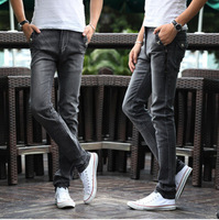 New Arrival Free Shipping Men's Casual Jeans Fashion Retro Slim Straight Jeans Upscale Stretch Cowboy Pencil Pants 1pc/lot