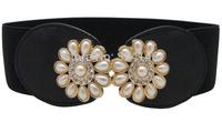 Gorgeous Ivory pearl Elasticity width belts elegance luxury Waist jewelry girdle fashion women belt paper tapes wholesale