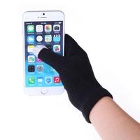 New Women Men Touch Screen Soft Cotton Winter Gloves Warmer Smartphone Black A#S0