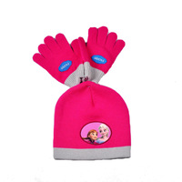 Wholesale Frozen Winter Hat Set Warm Knitted Caps + Gloves Princess Elsa and Anna Girls Hats and Gloves Set