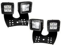 1 set 64W Cree LED Offroad work light bar Car Truck DRL Daytime running light Fog lamp Spotlights Headlights for JEEP for Hummer