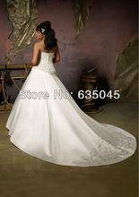 Robe De Mariage 2014 New Custom Made White Ivory A Line Wedding Dress Plus Size Wedding